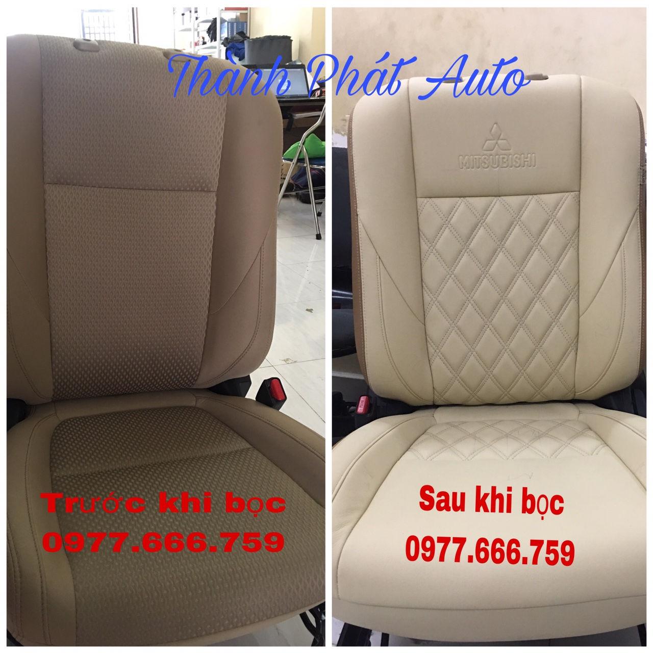 May bọc ghế da cho xe mitsubishi Attrage tại tphcm